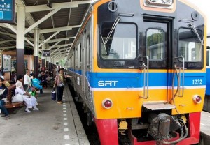 Train to River Kwai in Bangkok