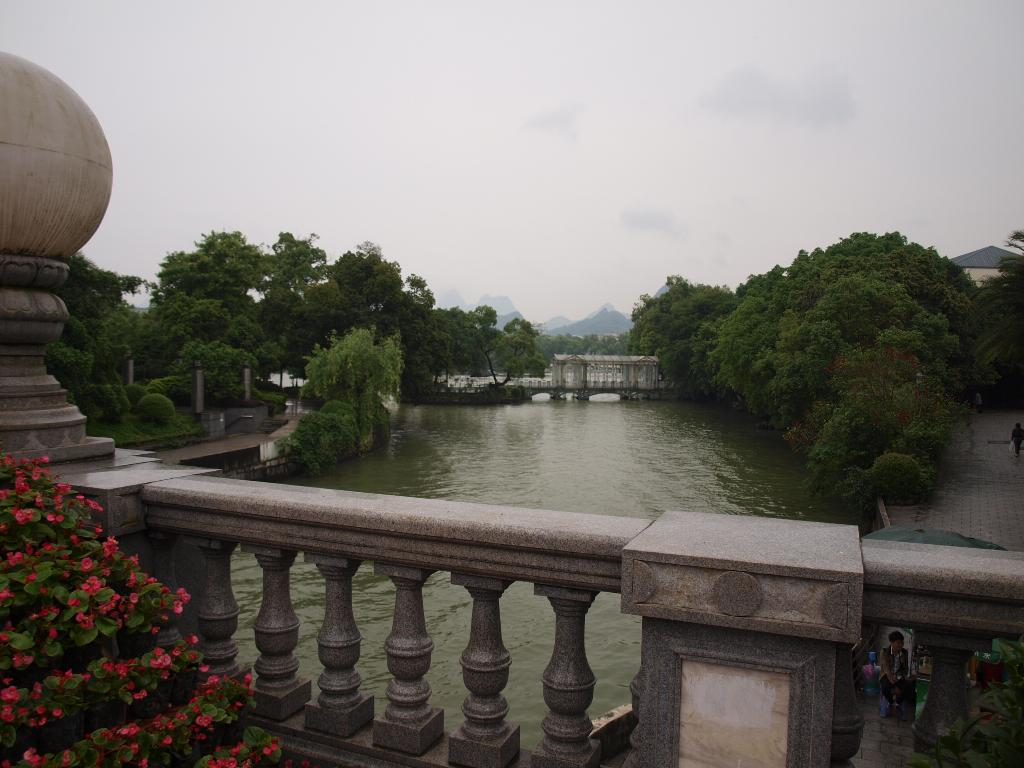 Peach Blossom River looking to Riverside Hostel