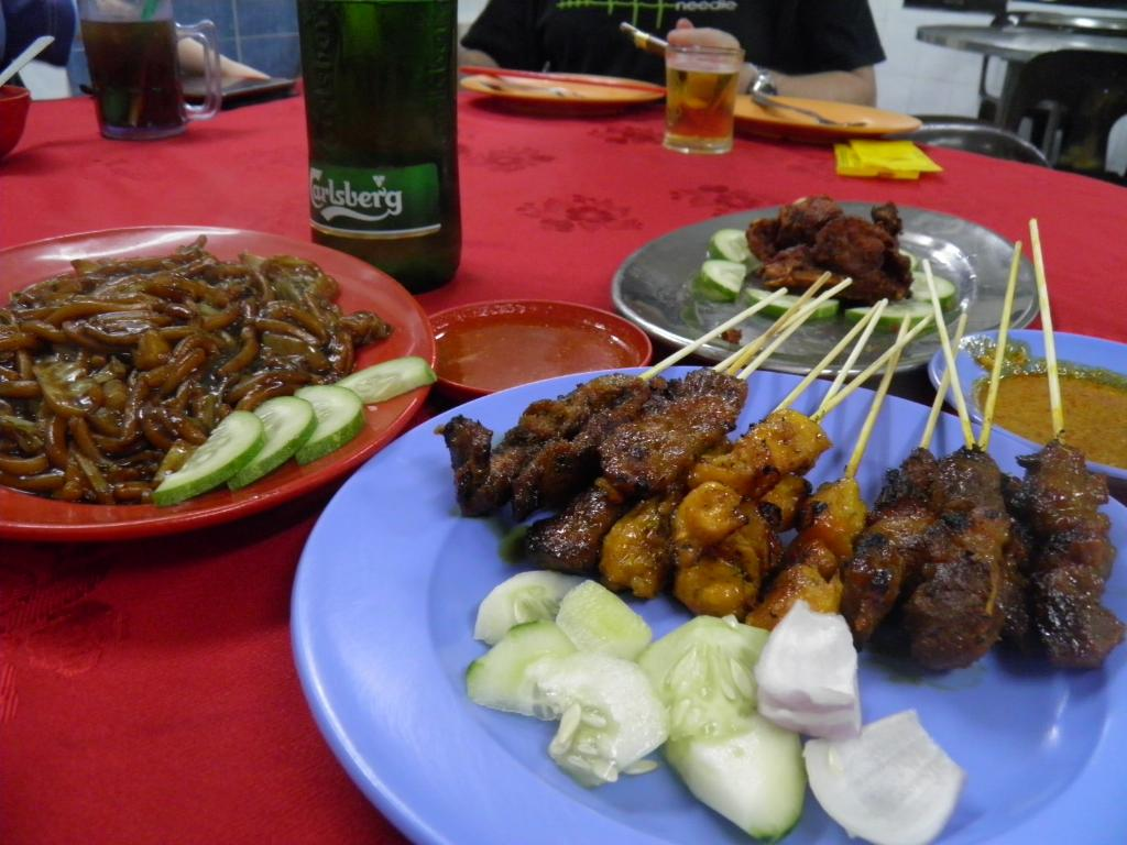 Beef & chicken satay Malay Style