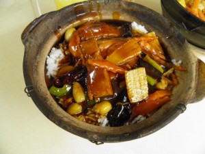 Sweet sour seafood clay pot
