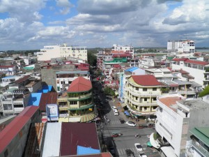 View over Phnom Phen from roof