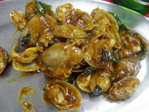 Kam Heong la-la.Clams