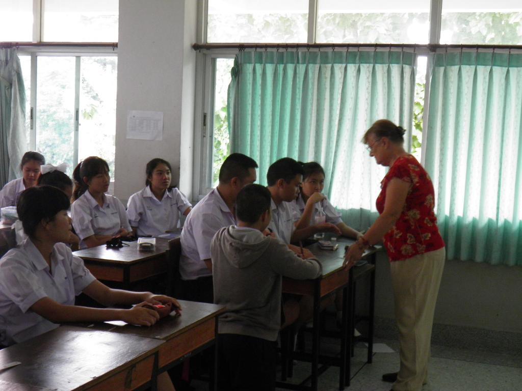 Jewel with Students